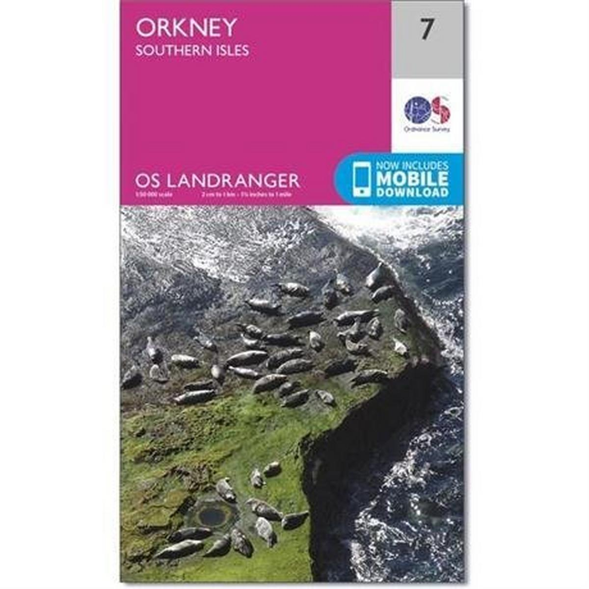 Ordnance Survey OS Landranger Map 07 Orkney - Southern Isles