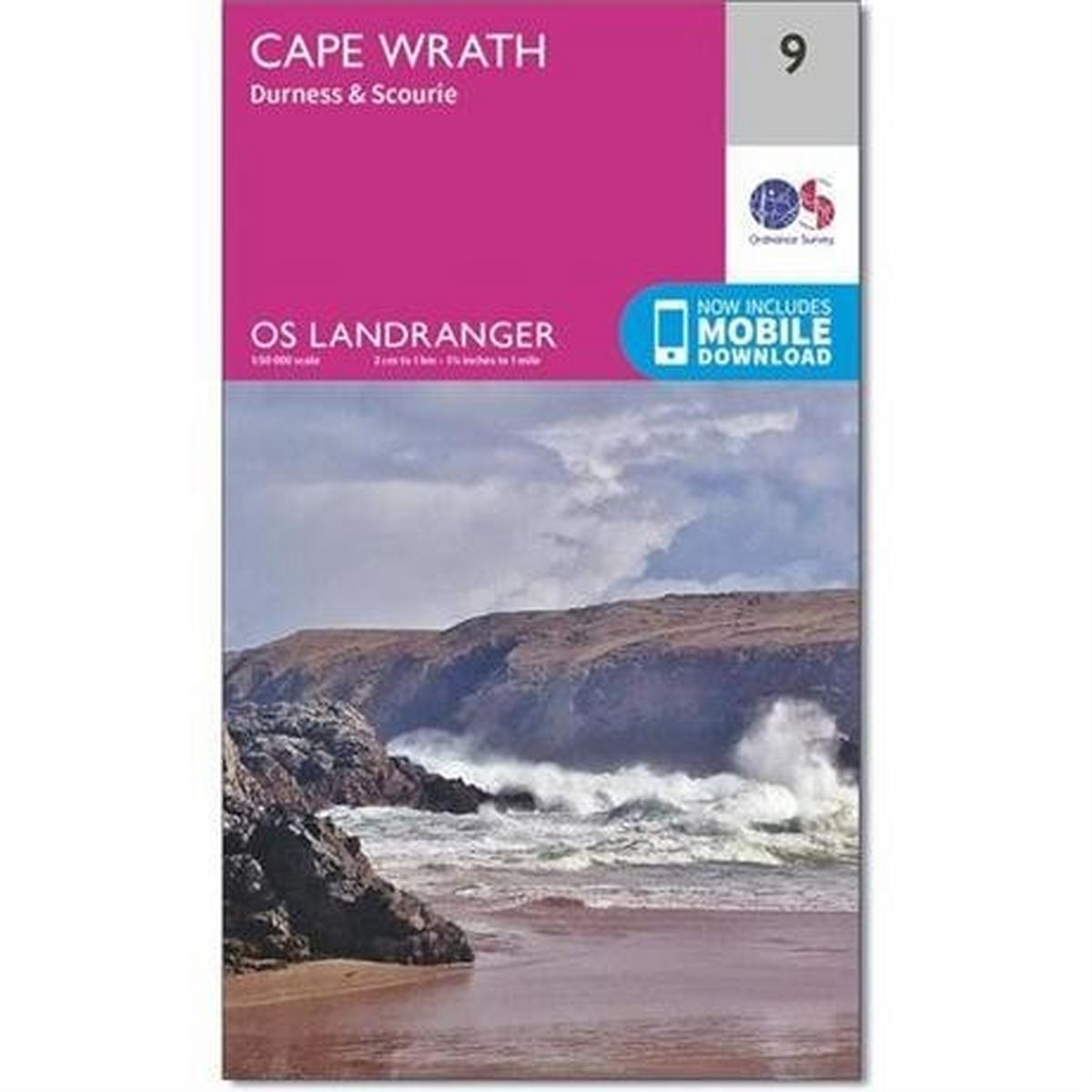 Ordnance Survey OS Landranger Map - Cape Wrath, Durness & Scourie
