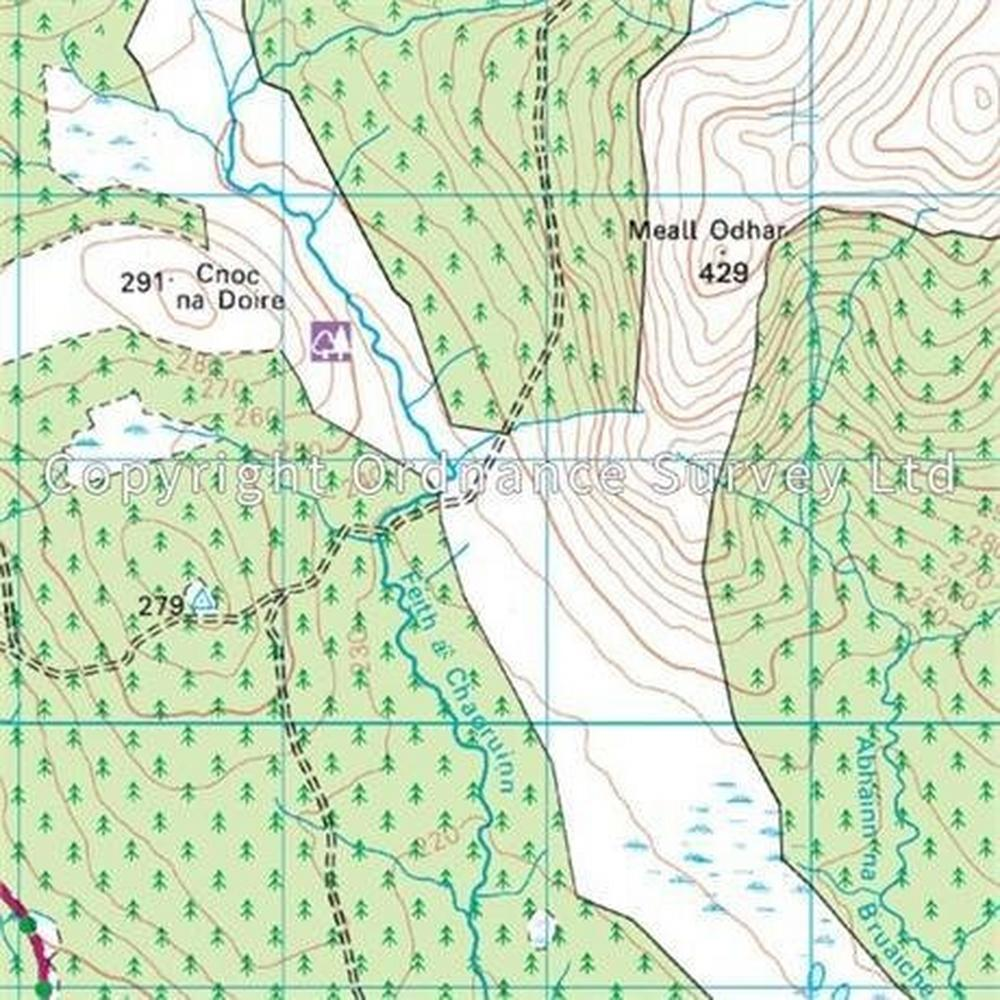Ordnance Survey OS Landranger Map 16 Lairg & Loch Shin, Loch Naver