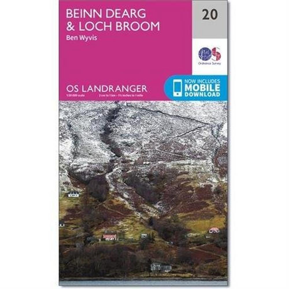 Ordnance Survey OS Landranger Map 20 Beinn Dearg & Loch Broom, Ben Wyvis