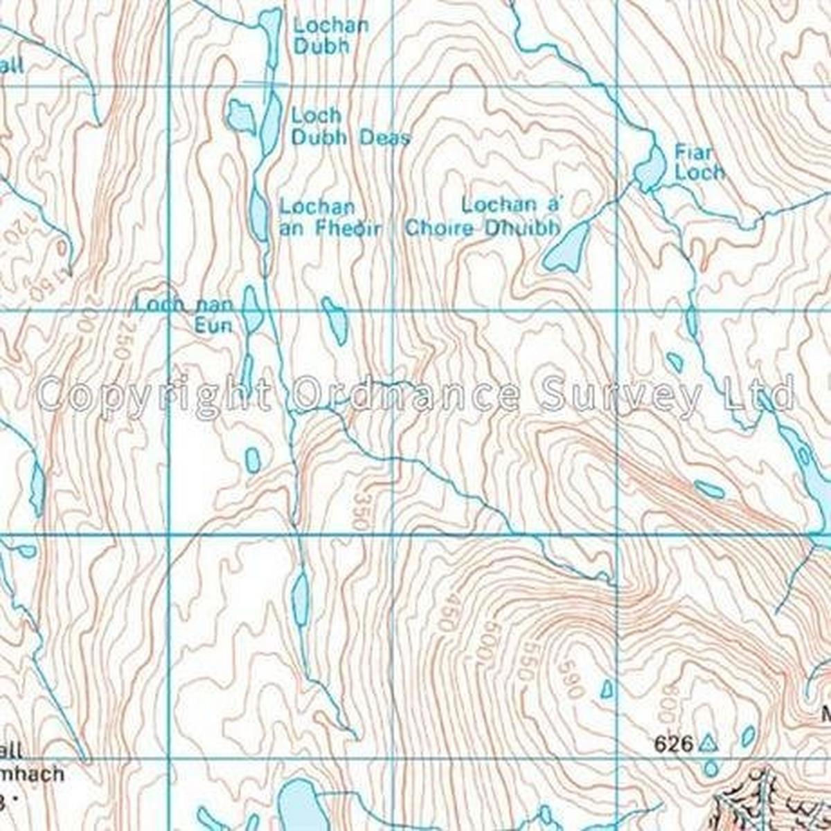 Ordnance Survey OS Landranger Map 24 Raasay & Applecross, Loch Torridon & Plockton