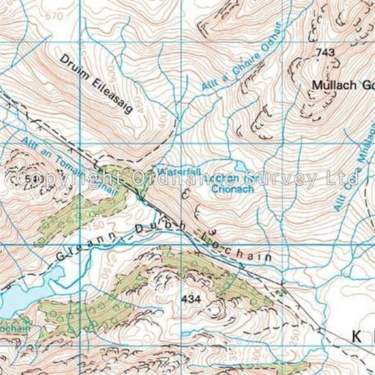 Ordnance Survey OS Landranger Map 33 Loch Alsh, Glen Shiel & Loch Hourn