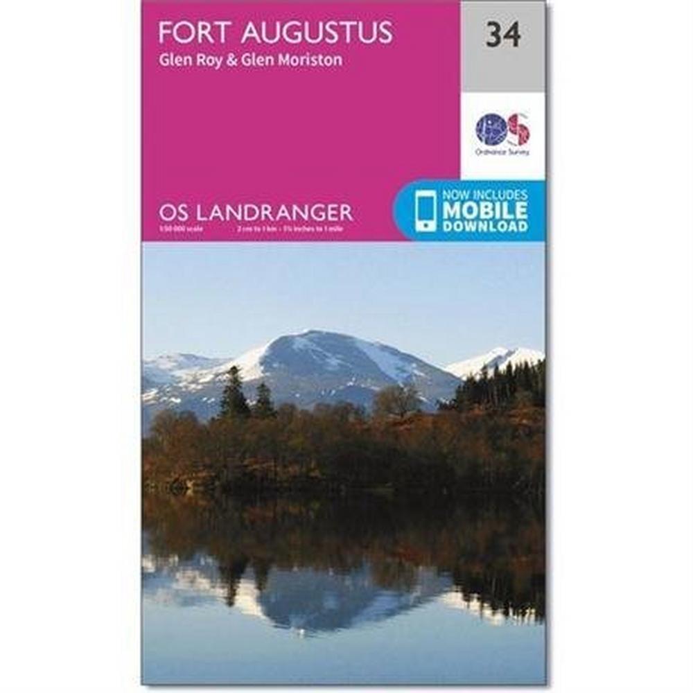 Ordnance Survey OS Landranger Map 34 Fort Augustus, Glen Roy & Glen Moriston