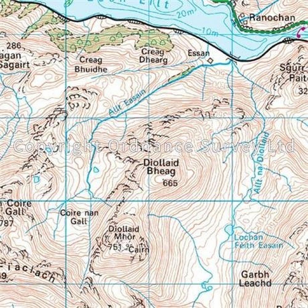 Ordnance Survey OS Landranger Map 40 Mallaig & Glenfinnan, Loch Shiel