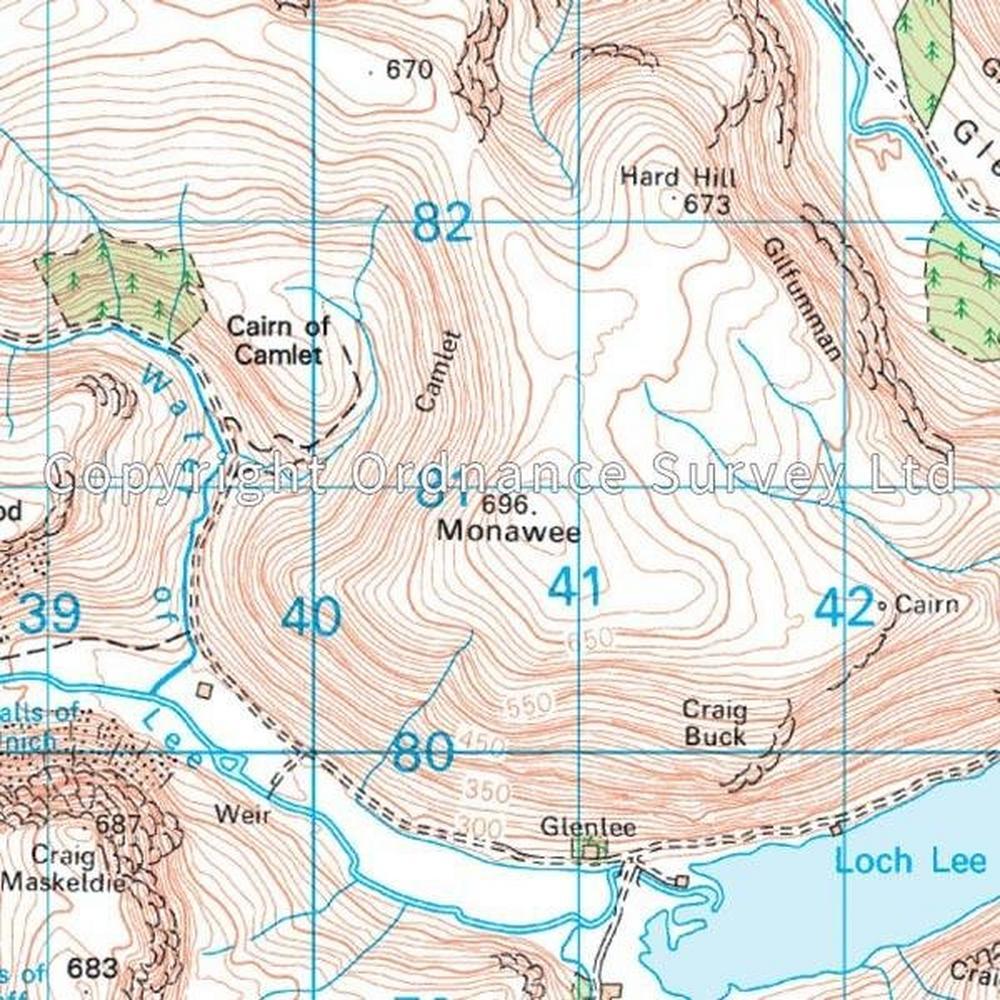 Ordnance Survey OS Landranger Map 44 Ballater, Glen Clova