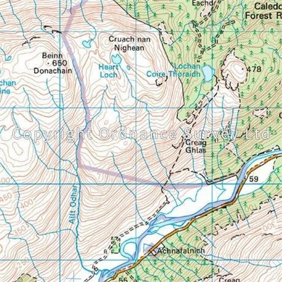 Ordnance Survey OS Landranger Map 50 Glen Orchy & Loch Etive