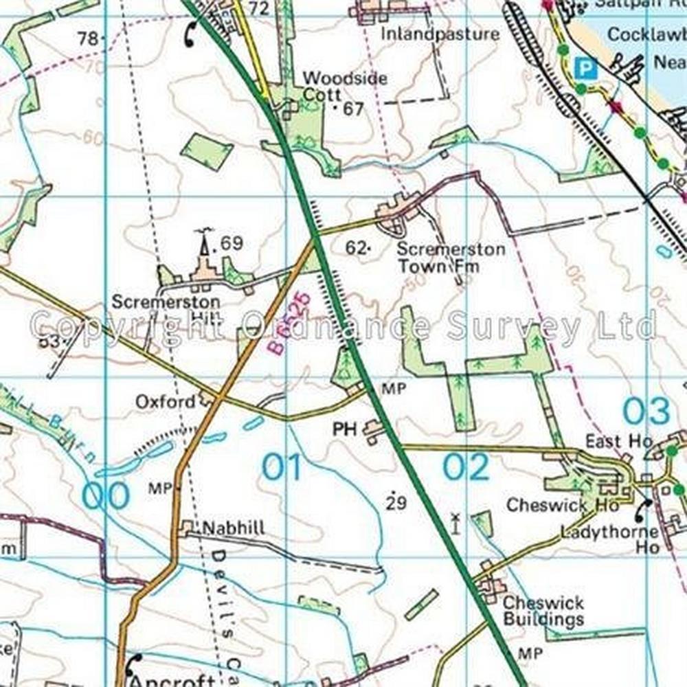 Ordnance Survey OS Landranger Map 75 Berwick-upon-Tweed