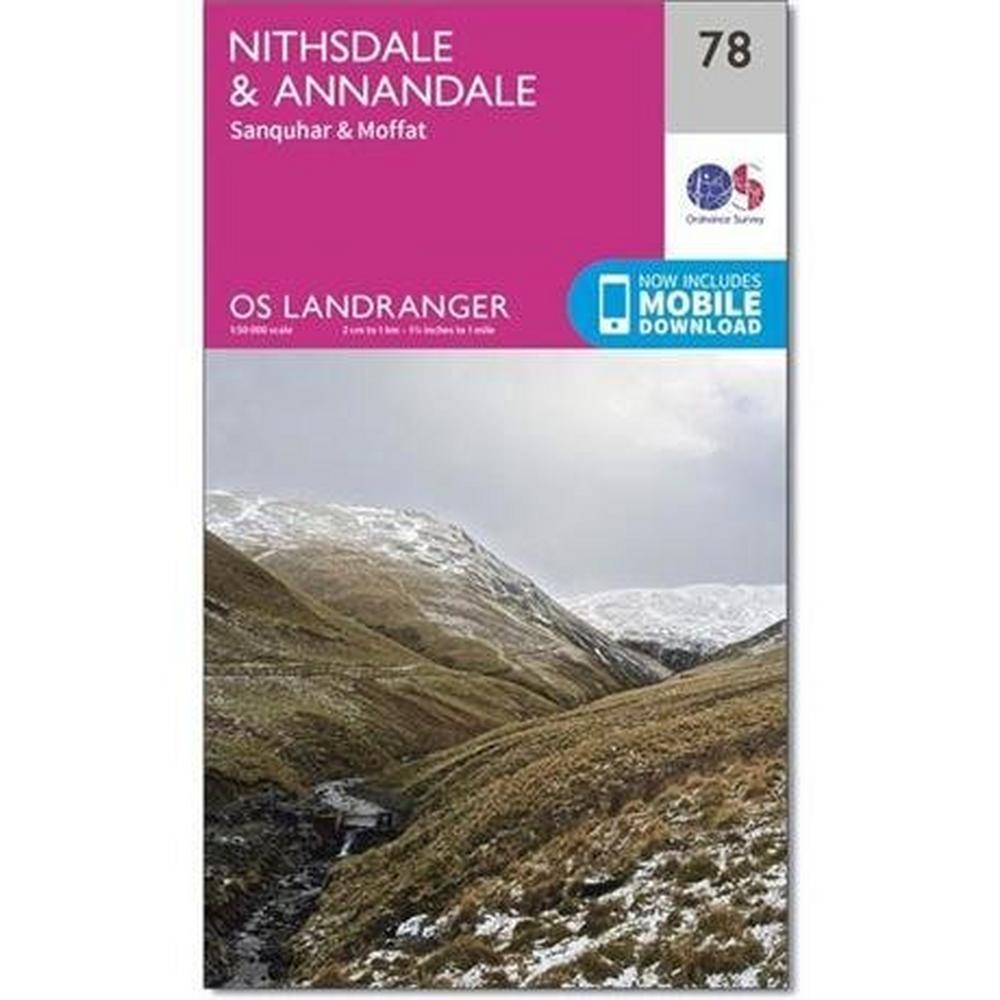 Ordnance Survey OS Landranger Map 78 Nithsdale & Annandale, Sanquhar & Moffat