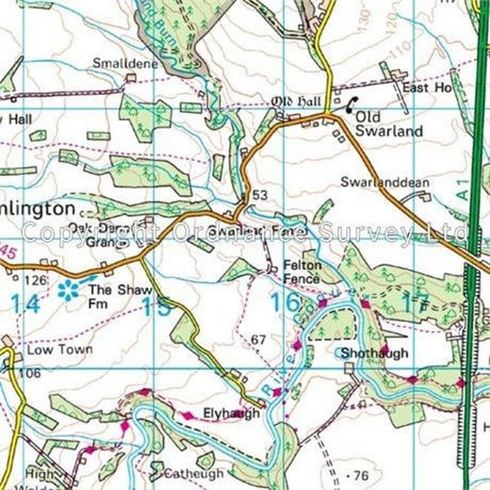 Ordnance Survey OS Landranger Map 81 Alnwick & Morpeth, Rothbury & Amble