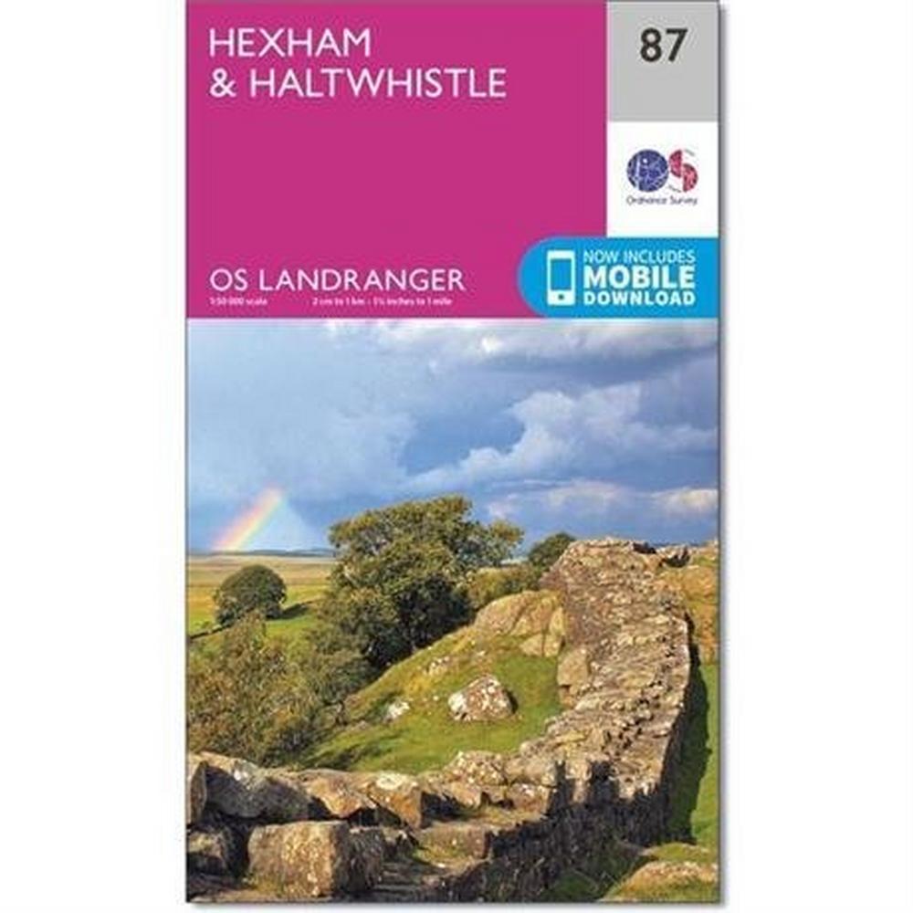 Ordnance Survey OS Landranger Map 87 Hexham & Haltwhistle