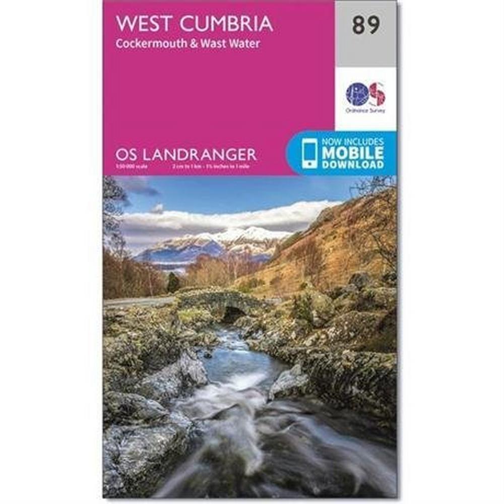 Ordnance Survey OS Landranger Map 89 West Cumbria, Cockermouth & Wast Water