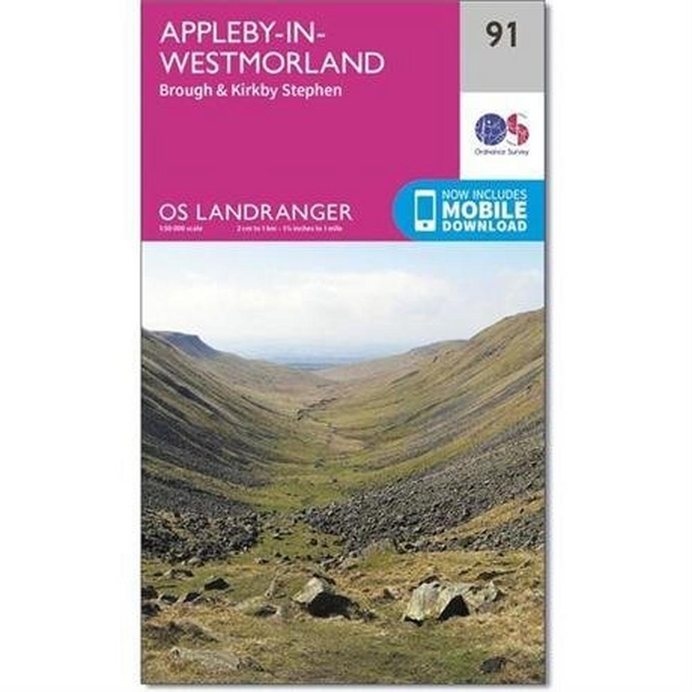 Ordnance Survey OS Landranger Map 91 Appleby-in-Westmorland