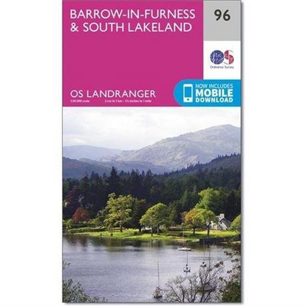 Ordnance Survey OS Landranger Map 96 Barrow-in-Furness & South Lakeland