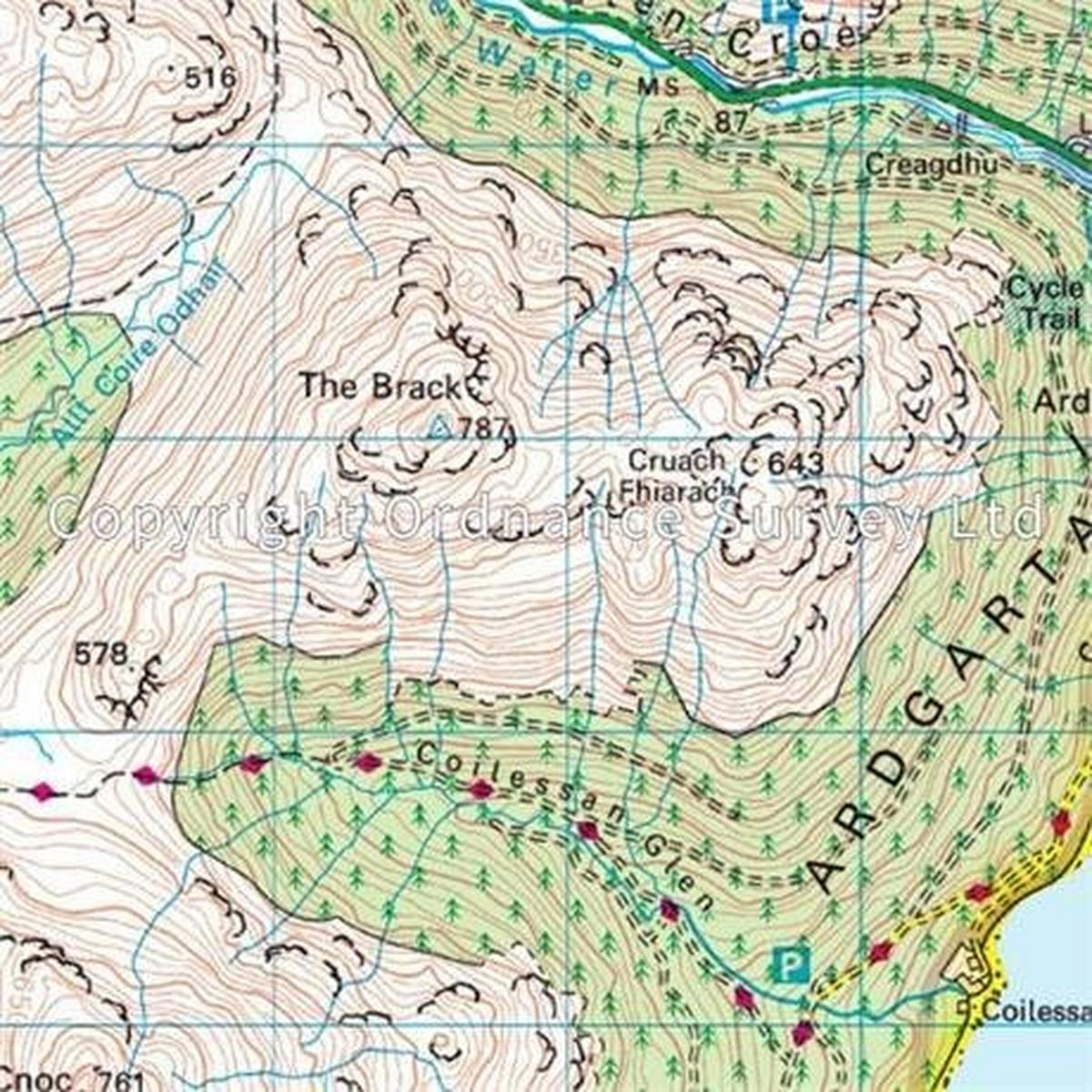 Ordnance Survey OS Landranger ACTIVE Map 56 Loch Lomond & Inveraray