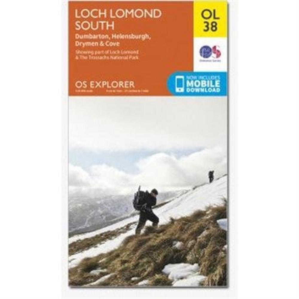Ordnance Survey OS Explorer Map OL38 Loch Lomond South