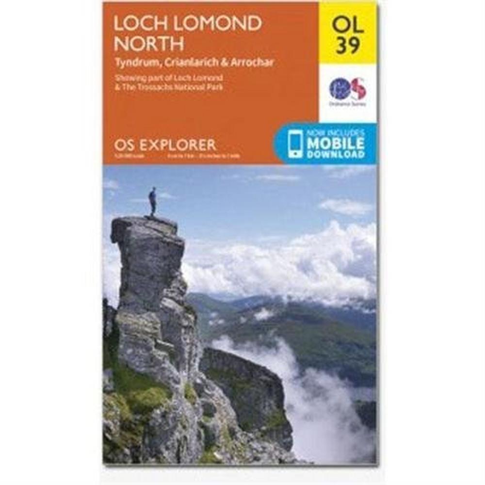 Ordnance Survey OS Explorer Map: Loch Lomond North OL39