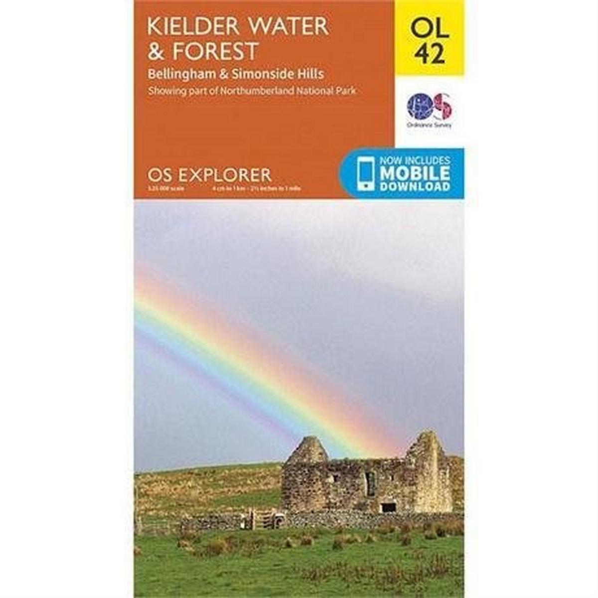 Ordnance Survey OS Explorer Map OL42 Kielder Water & Forest