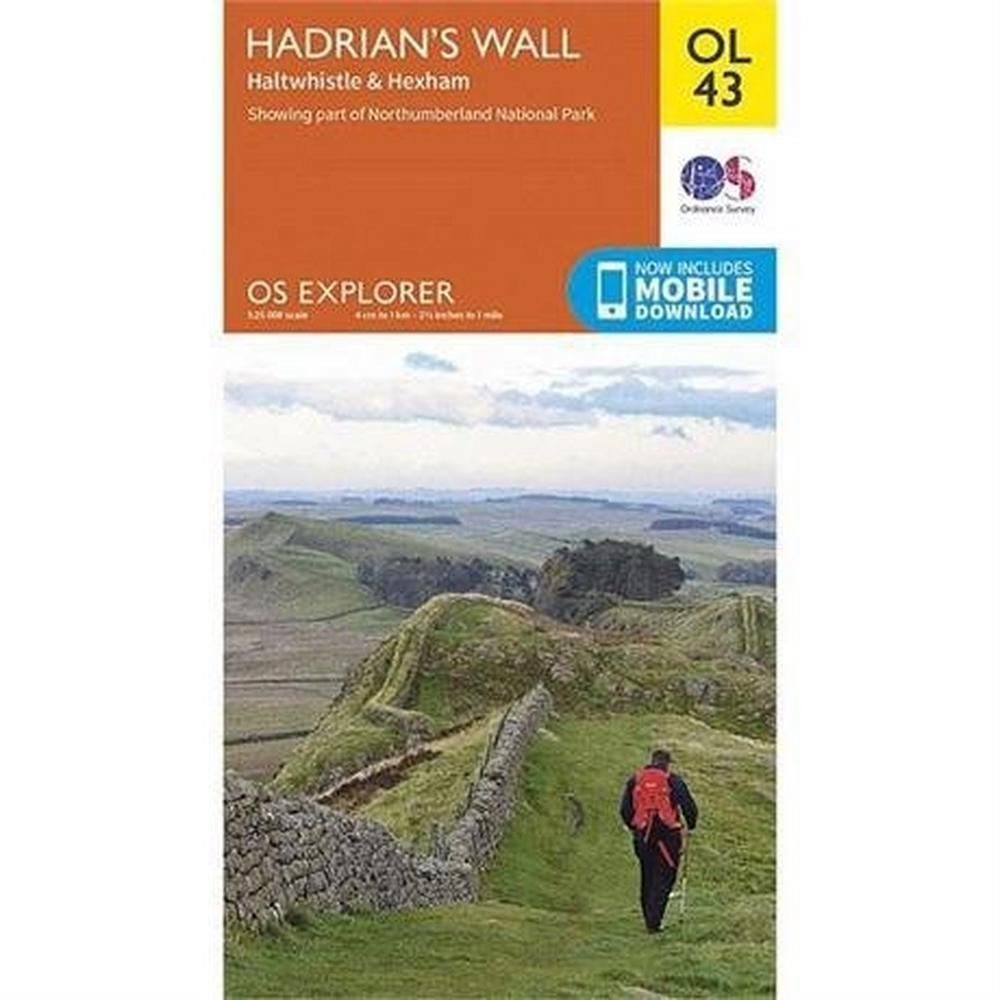 Ordnance Survey OS Explorer Map OL43 Hadrian's Wall