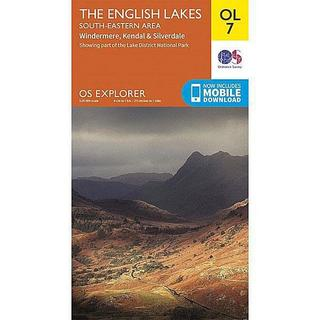 OS Explorer Map OL7 The English Lakes - South Eastern
