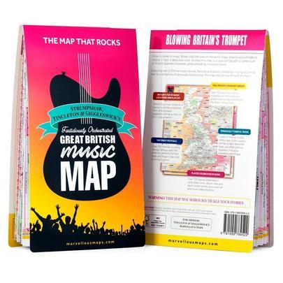 O.s. Great British Music Map