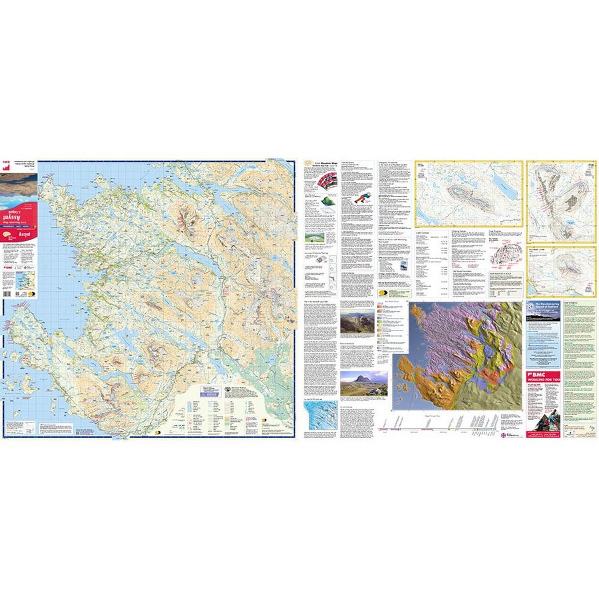 Harveys Harvey Map - BMC: Assynt & Coigach 1:40,000