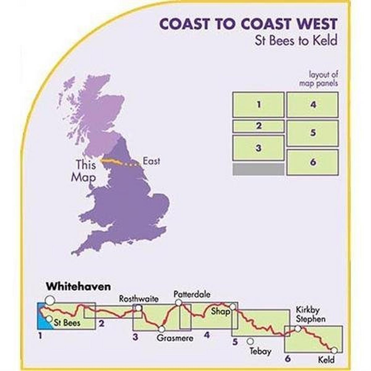 Harveys Harvey Map - XT40: Coast to Coast - West (St Bees to Keld)