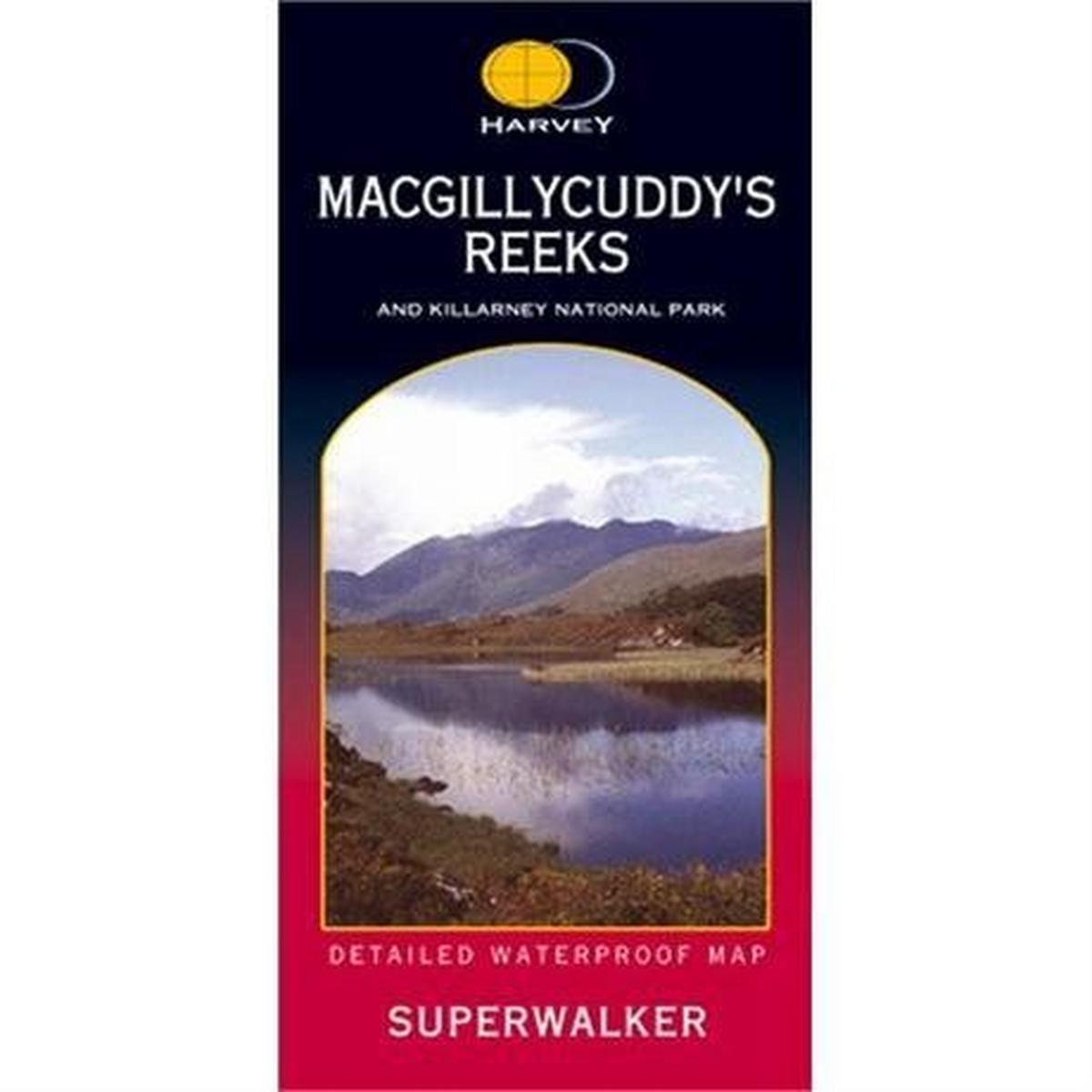 Harveys Ireland Map Harvey - Superwalker: MacGillycuddy's Reeks