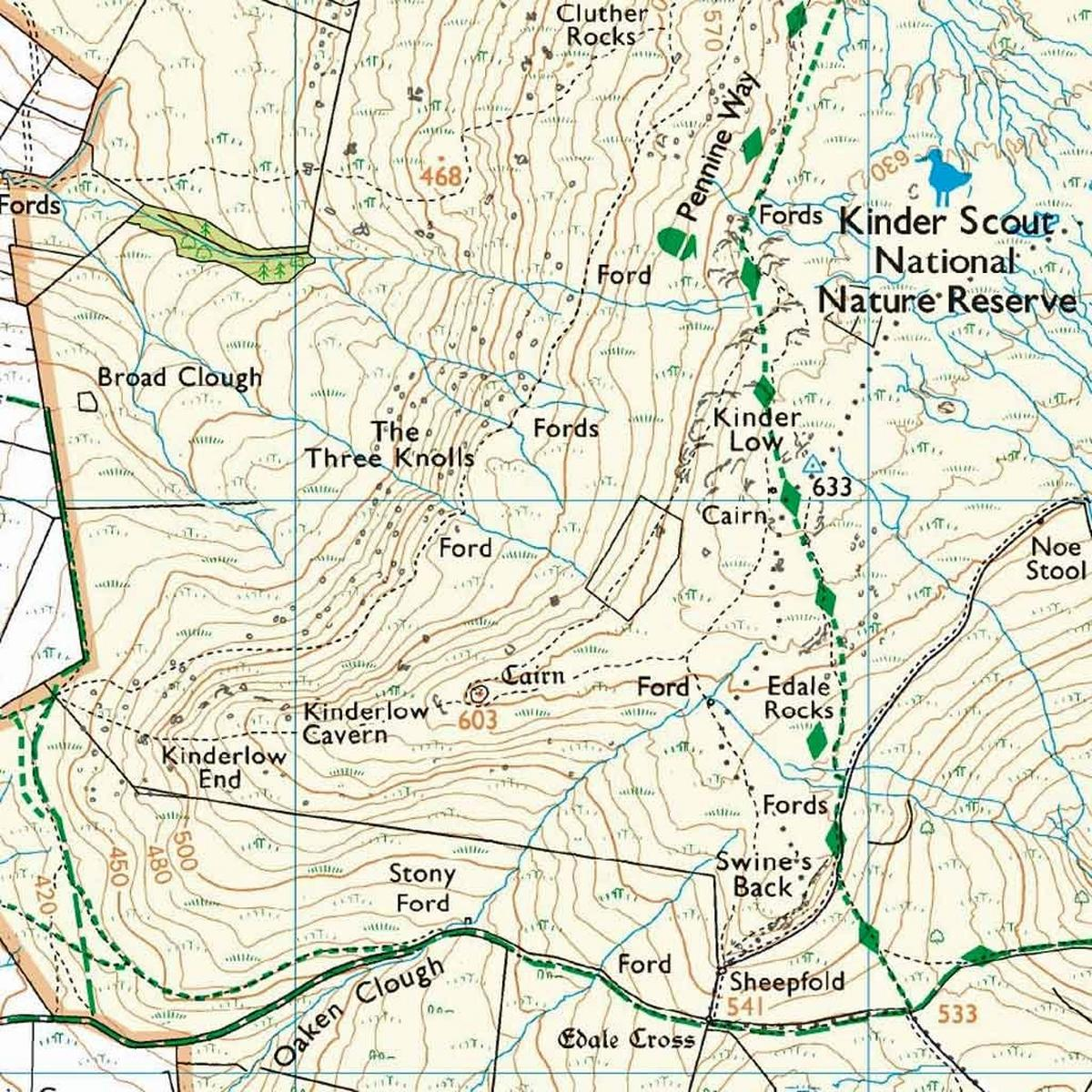 Ordnance Survey OS Explorer ACTIVE Map OL1 The Peak District - Dark Peak