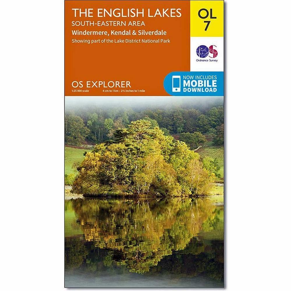Ordnance Survey OS Explorer ACTIVE Map OL7 The English Lakes - South Eastern
