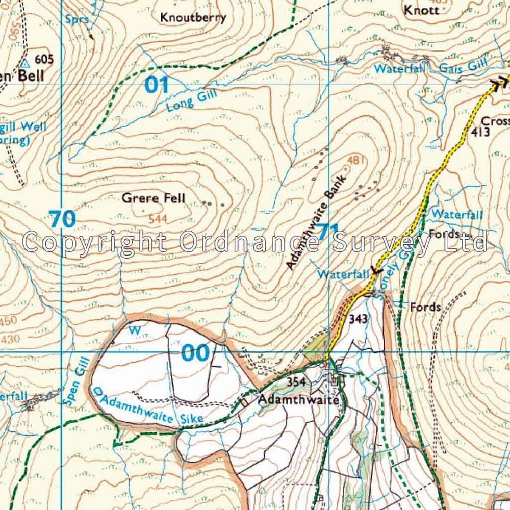 Ordnance Survey OS Explorer ACTIVE Map OL19 Howgill Fells & Upper Eden Valley