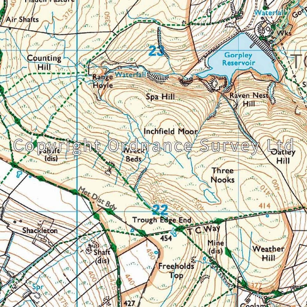 Ordnance Survey OS Explorer ACTIVE Map OL21 South Pennines