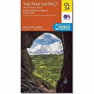OS Explorer ACTIVE Map OL24 The Peak District - White Peak