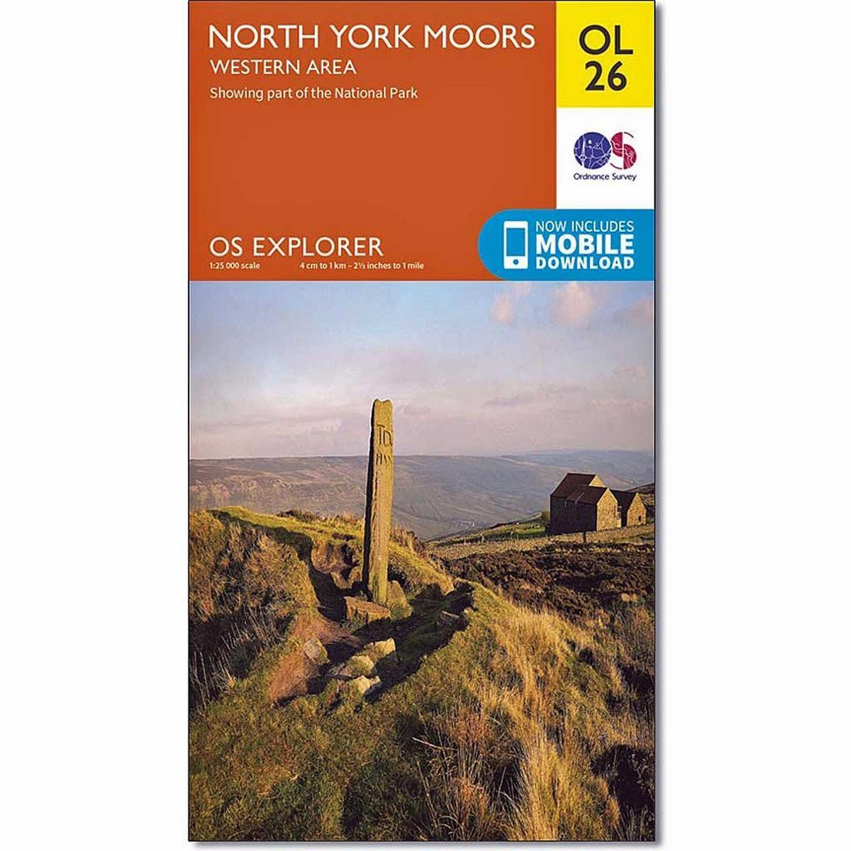 Ordnance Survey OS Explorer ACTIVE Map OL26 North York Moors - Western