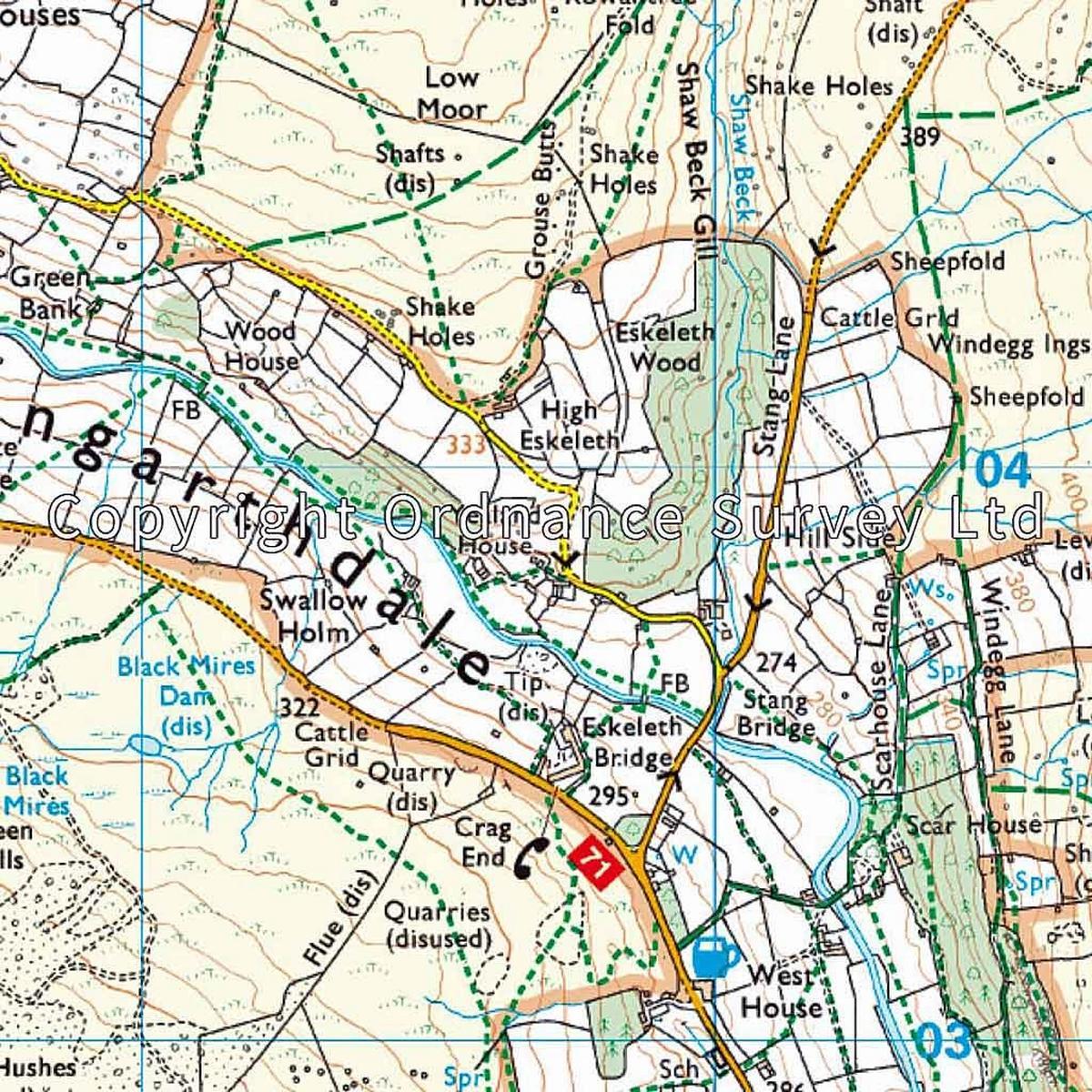 Ordnance Survey OS Explorer ACTIVE Map OL30 Yorkshire Dales - Northern & Central