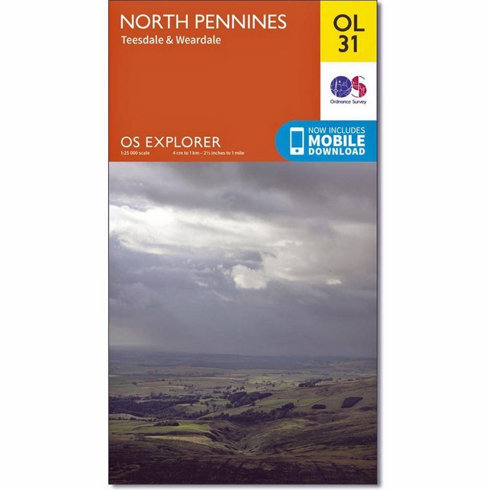 Ordnance Survey OS Explorer Map OL31: North Pennines