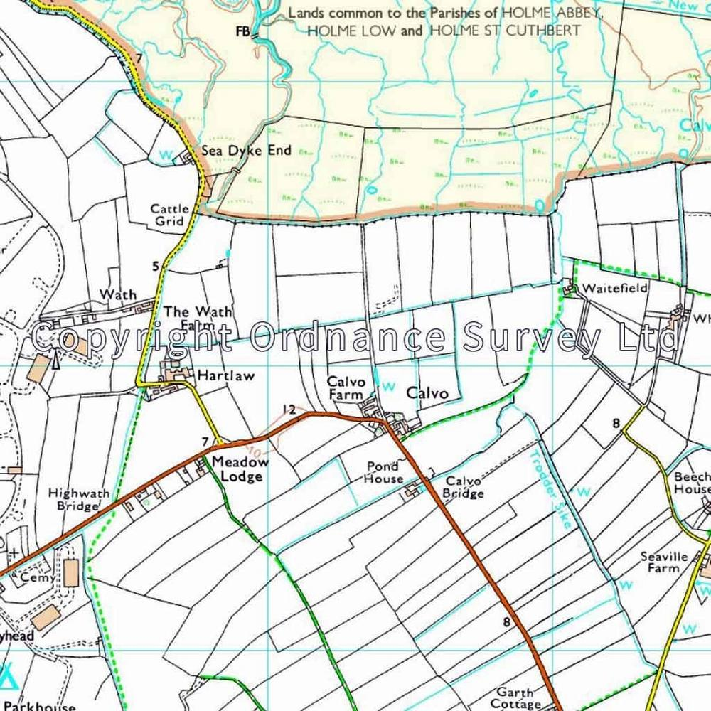 Ordnance Survey OS Explorer ACTIVE Map 314 Solway Firth, Wigton and Silloth