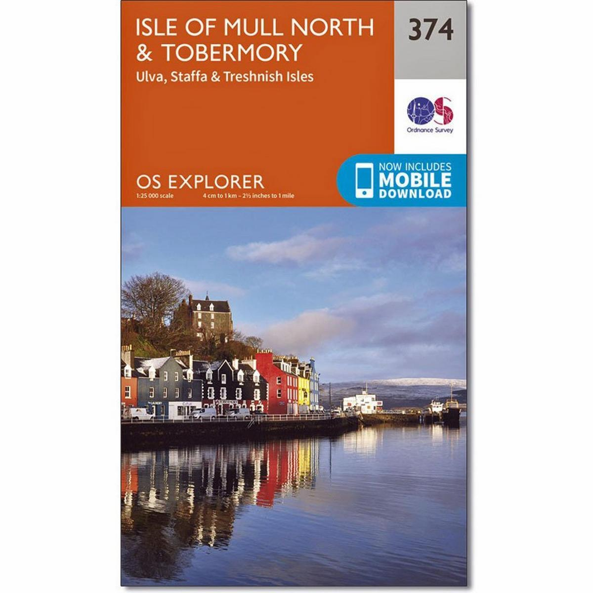 Ordnance Survey OS Explorer ACTIVE Map 374 Isle of Mull North and Tobermory