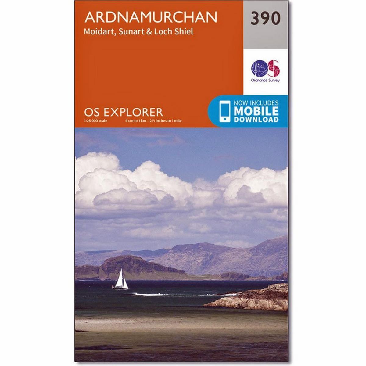 Ordnance Survey OS Explorer ACTIVE Map 390 Ardnamurchan, Moidart, Sunart & Loch Shiel