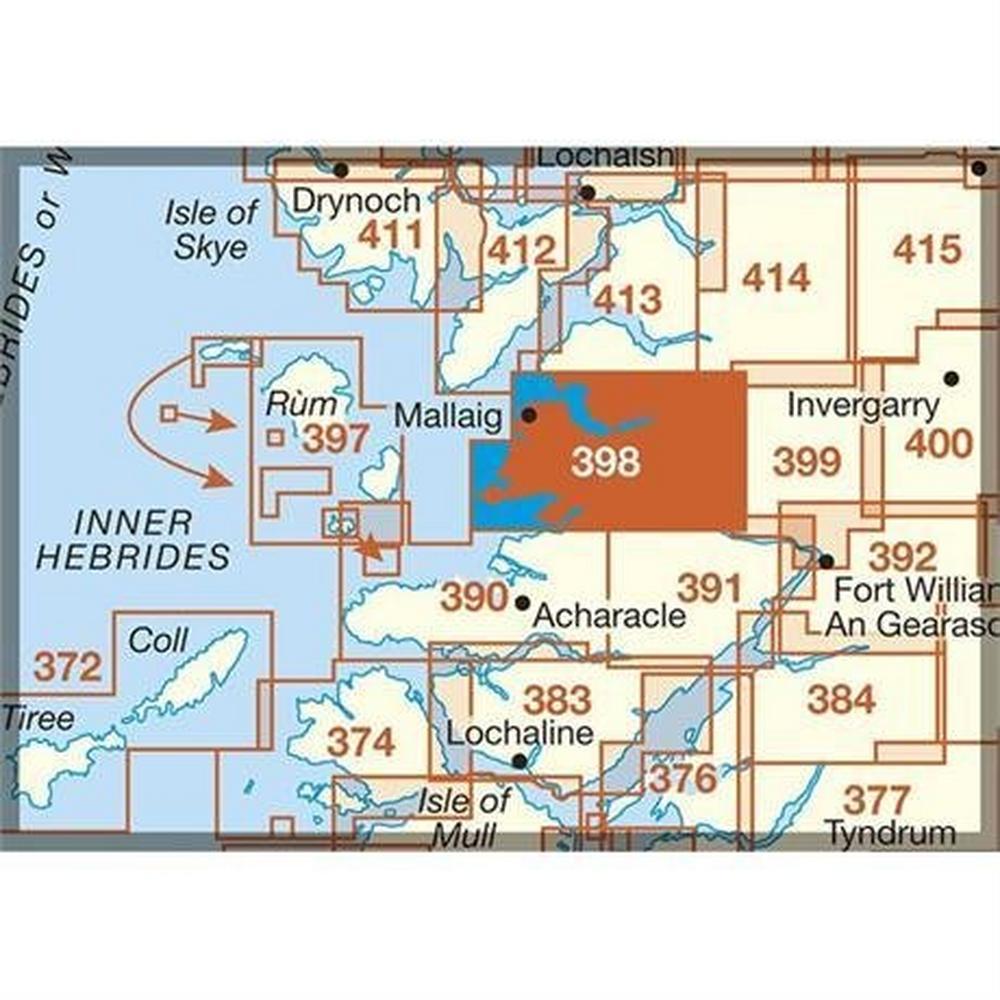Ordnance Survey OS Explorer ACTIVE Map 398 Loch Morar & Mallaig