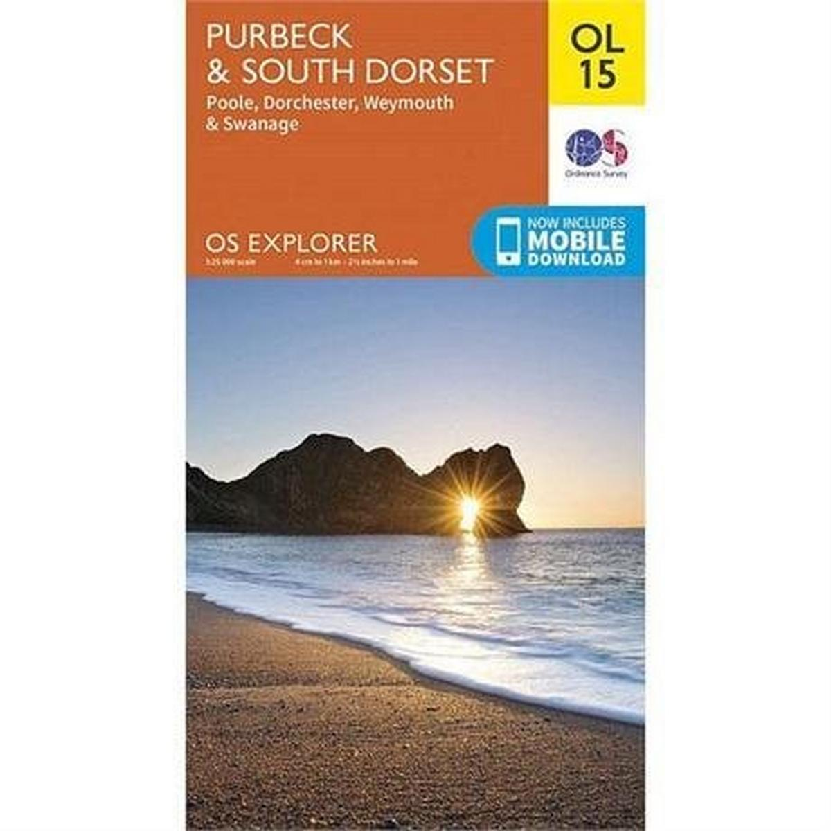 Ordnance Survey OS Explorer Map OL15: Purbeck & South Dorset