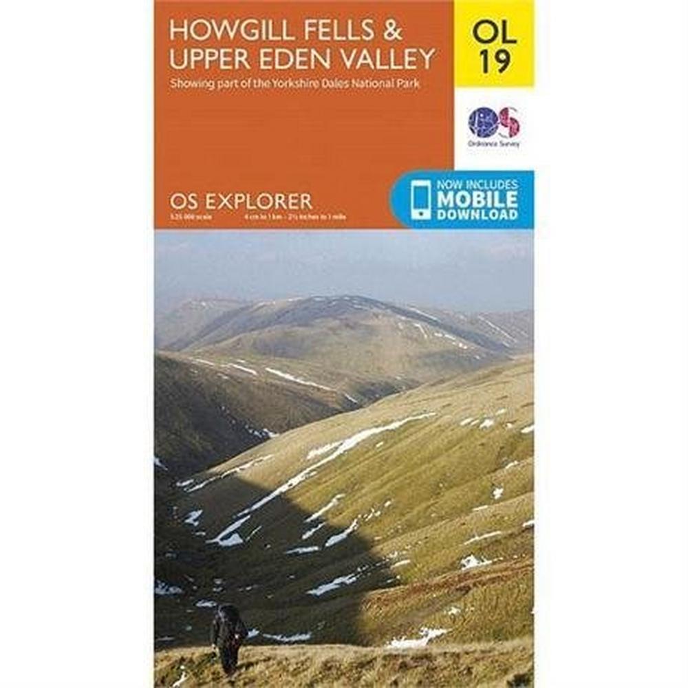 Ordnance Survey OS Explorer Map OL19 Howgill Fells & Upper Eden Valley