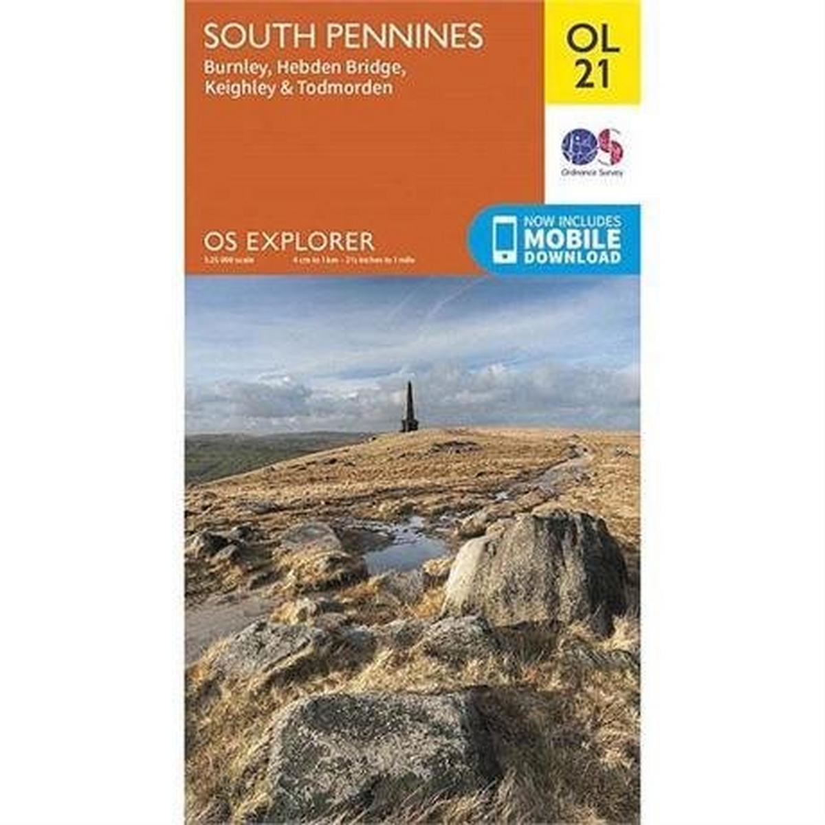 Ordnance Survey OS Explorer Map OL21 South Pennines