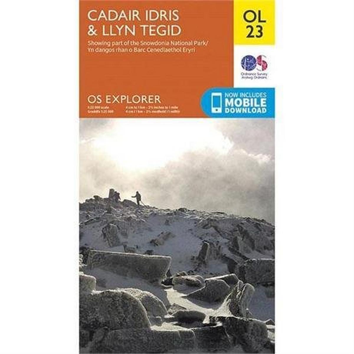 Ordnance Survey OS Explorer Map OL23 Cadair Idris & Llyn Tegid
