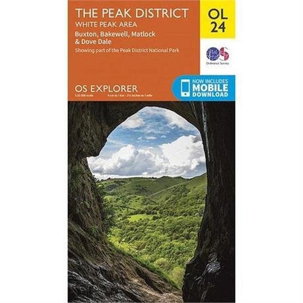 Ordnance Survey OS Explorer Map OL24 The Peak District - White Peak