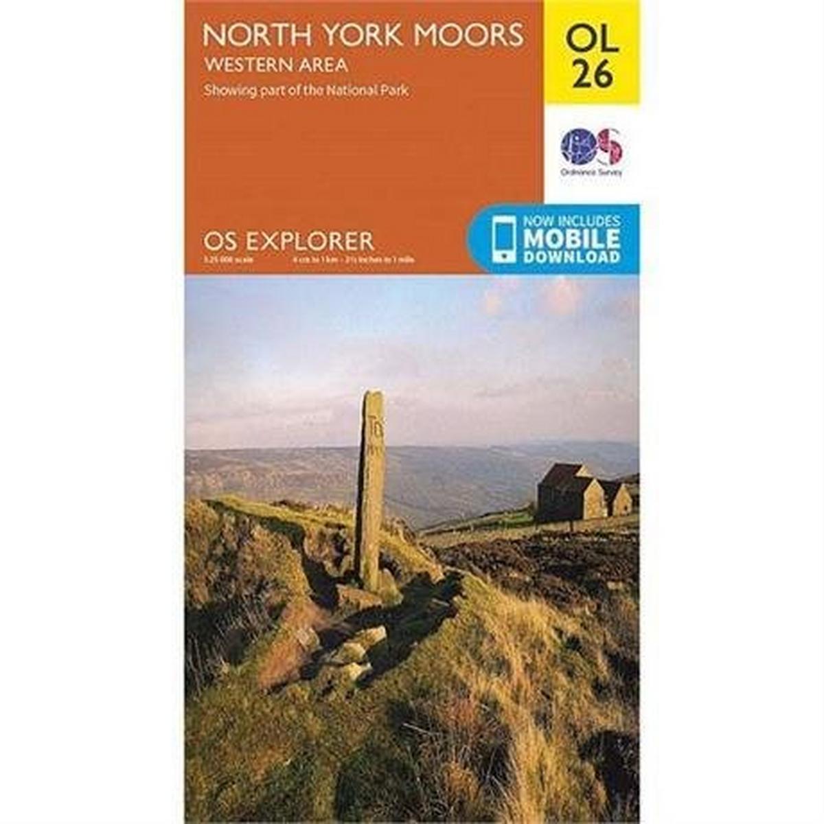 Ordnance Survey OS Explorer Map OL26 North York Moors - Western