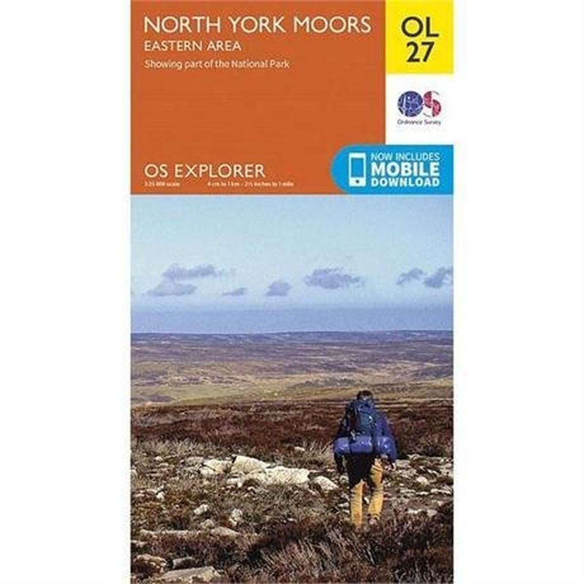 Ordnance Survey OS Explorer Map OL27 North York Moors - Eastern