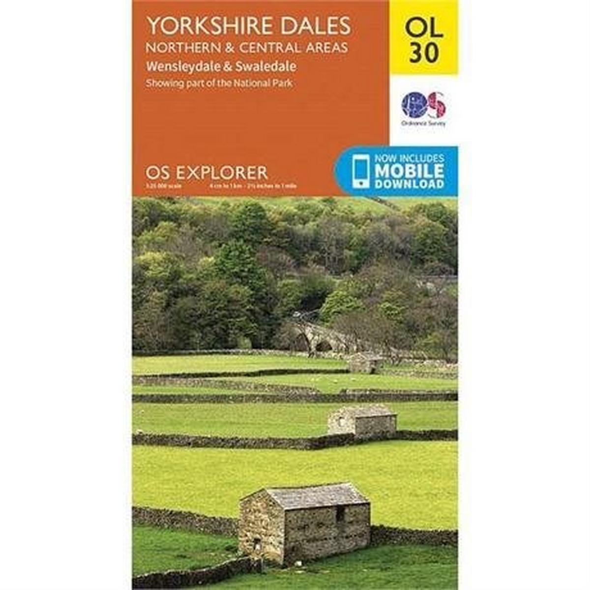 Ordnance Survey OS Explorer Map OL30 Yorkshire Dales - Northern & Central