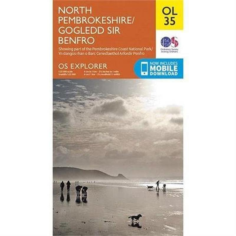 OS Explorer Map OL35 North Pembrokeshire / Gogledd Sir Benfro