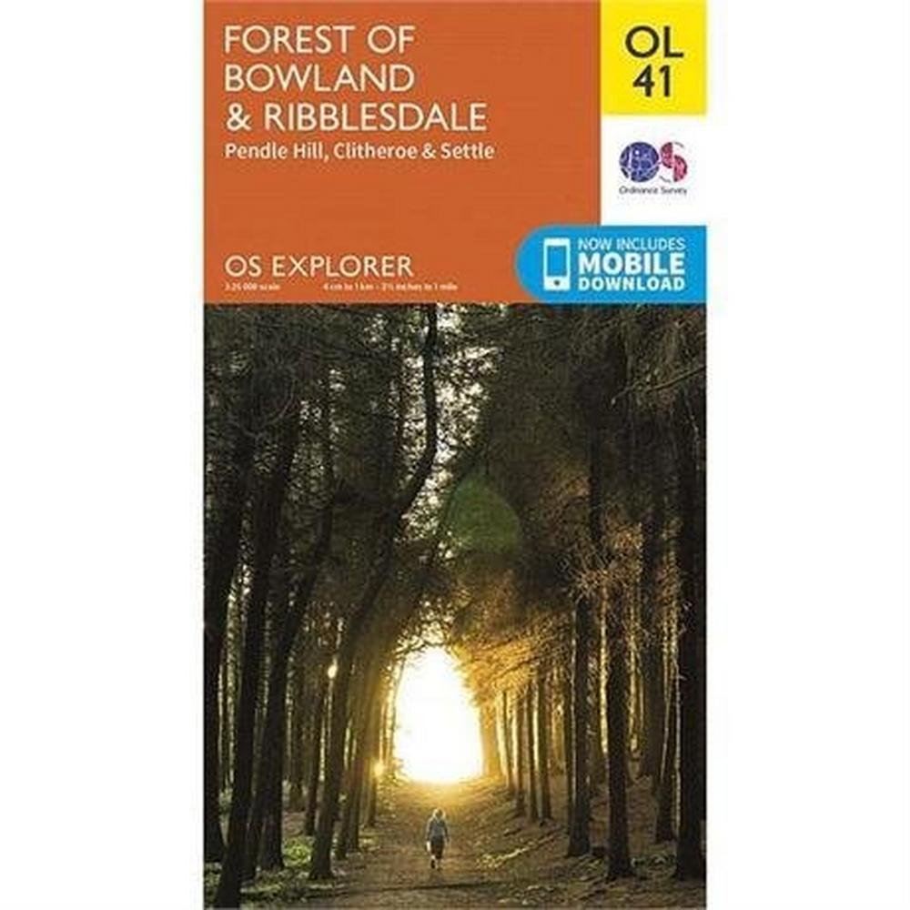 Ordnance Survey OS Explorer Map OL41 Forest of Bowland & Ribblesdale