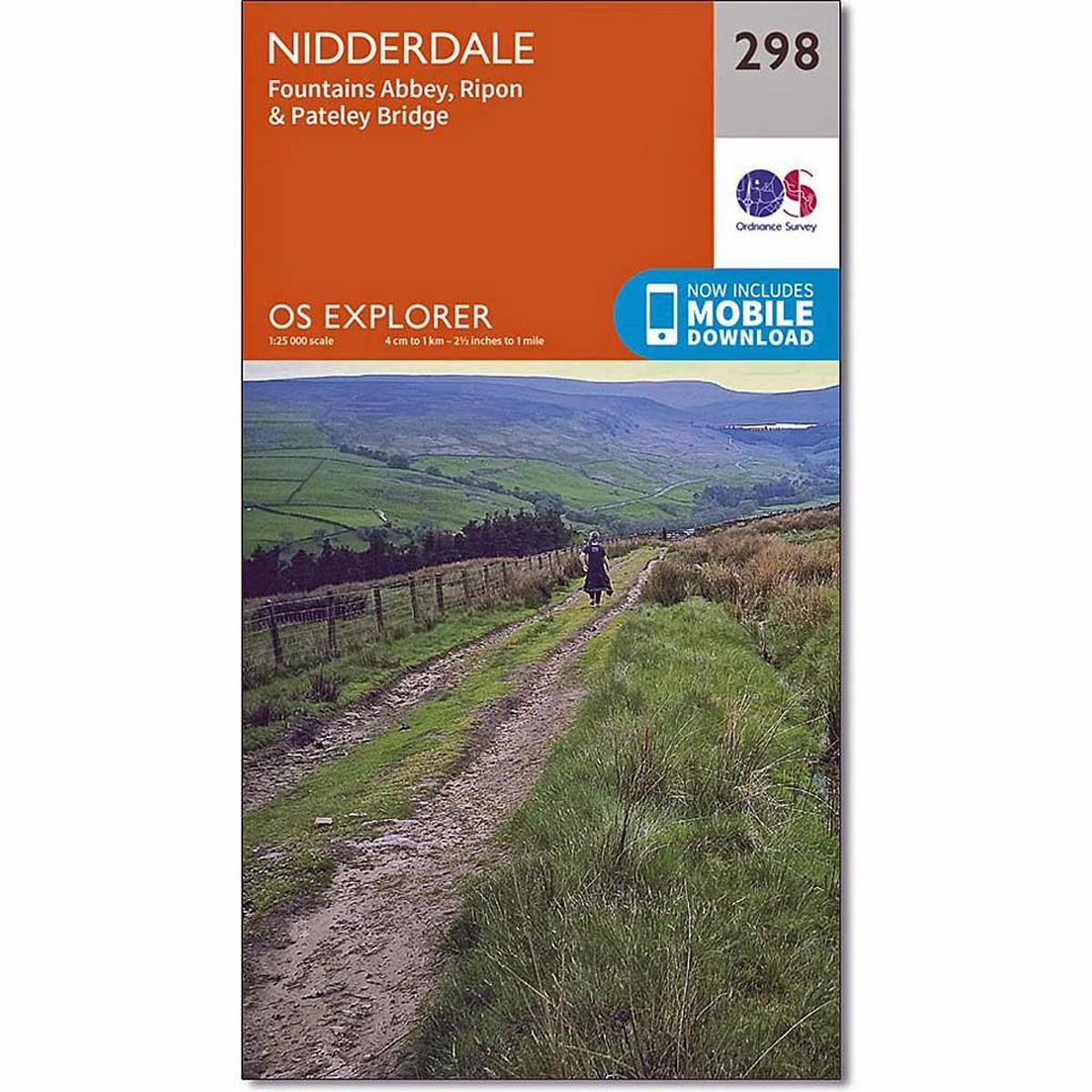 Ordnance Survey OS Explorer Map 298 Nidderdale